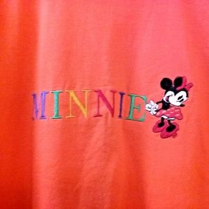 TShirt Embroidered with Minnie Mouse XL